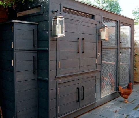 Swanky Chicken coop. Make sure show this to Scott and tell him to step it up a notch