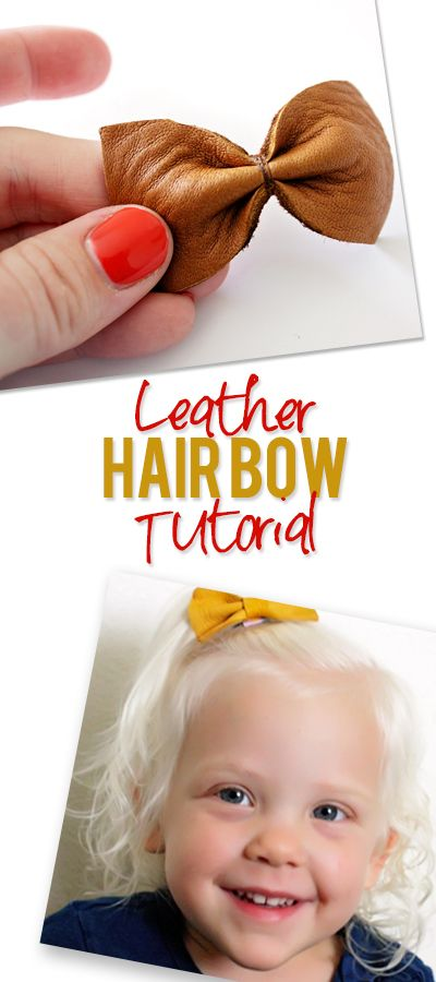 Little girls will love these DIY Leather Hair Bows. Find the tutorial at howdoesshe.com