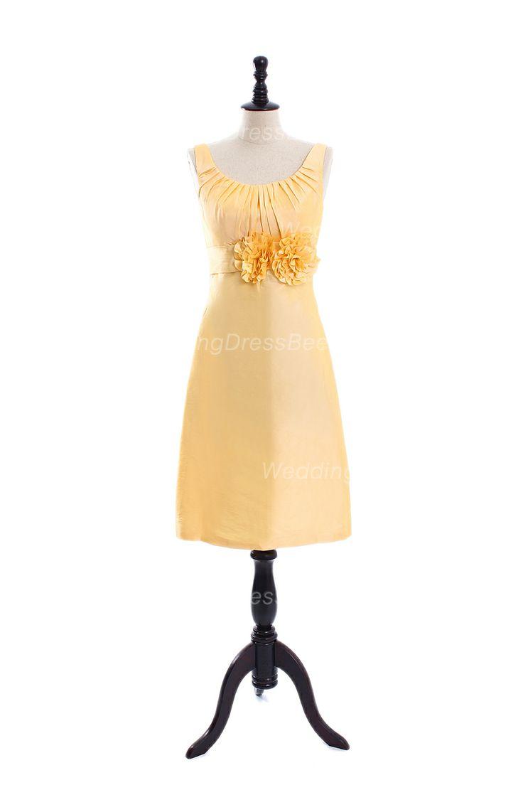 Pretty A-line Empire waist Taffeta bridesmaid dress