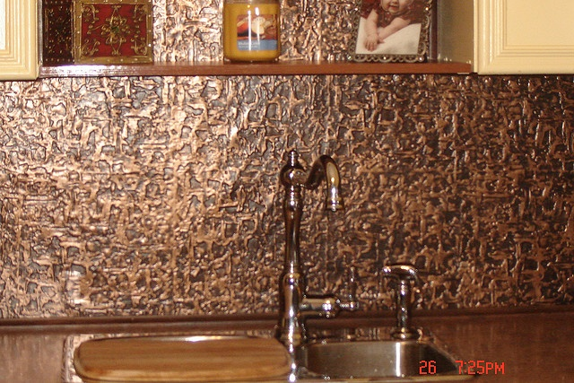 Hammered Copper Backsplash Kitchen Pottery Barn Islands Faux Tin Roll (talissa Decor) | All About ...