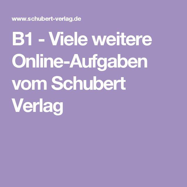 b1 viele weitere online aufgaben vom schubert verlag b1 b2 tipps deutsch lernen deutsch. Black Bedroom Furniture Sets. Home Design Ideas