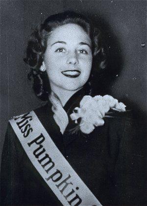 Ruth Ann Valentine, 1953 Miss Pumpkin (Circleville OH Pumpkin show). What a perfect name!