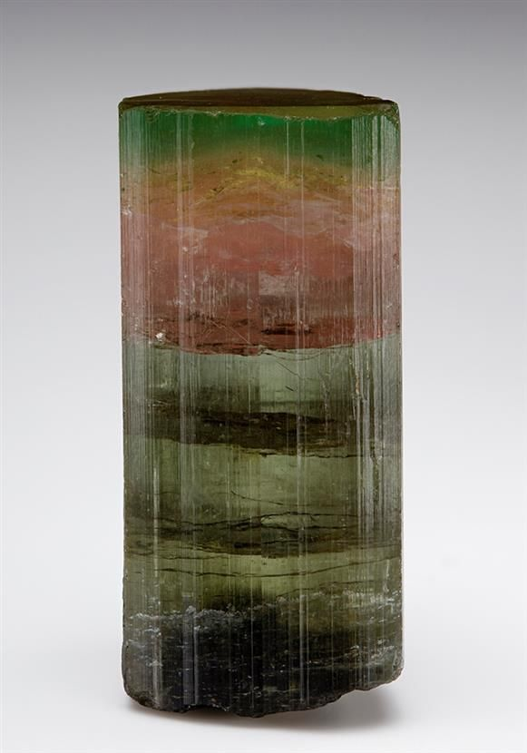 An excellent four coloured crystal of Tourmaline from the Himalaya Mine, California, USA.