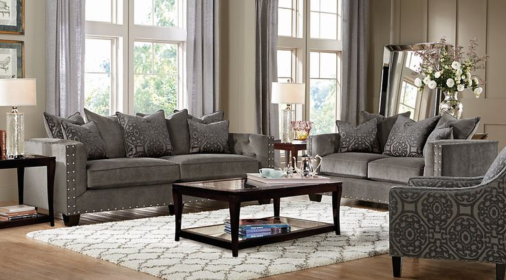 Cindy Crawford Home Sidney Road Gray 5 Pc Living Room