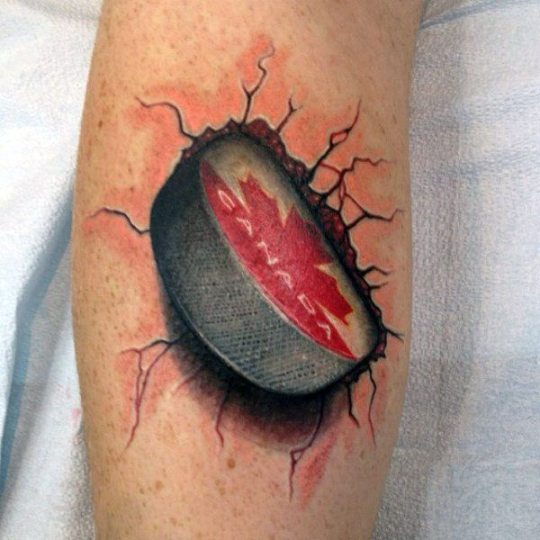skull and hockey puck tattoo   Demonstrate your fast-paced and dauntless approach to defeating all ...