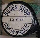 Old Birmingham bus stop sign.