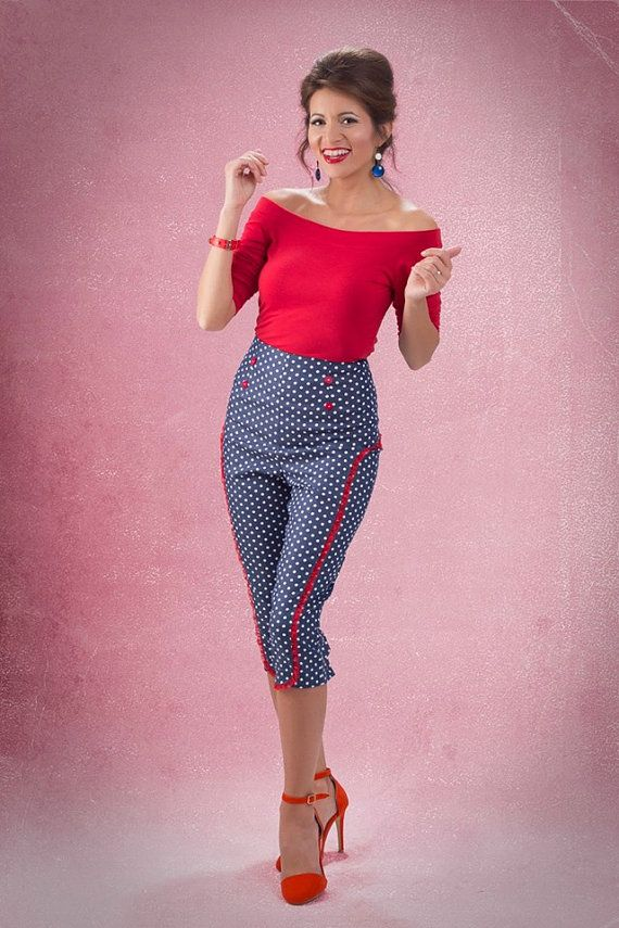 Polka dot pants By TiCCi Rockabilly Clothing by TicciRockabilly