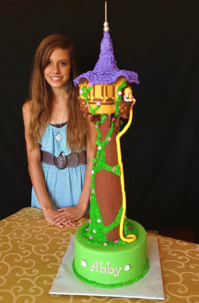 Rapunzel Tower Cake