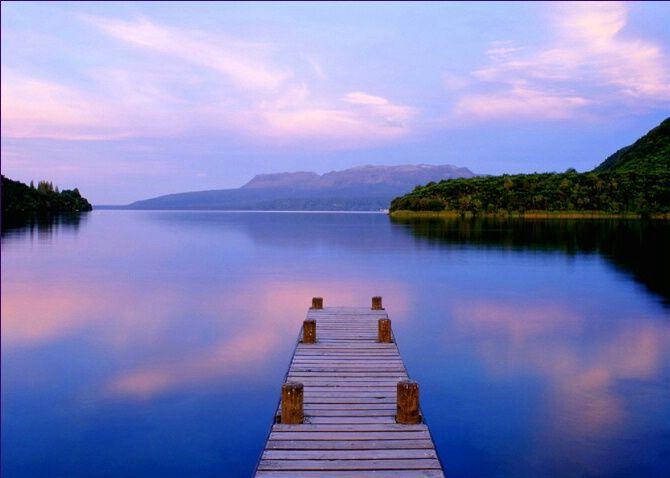 Lake Tarawera, New Zealand.
