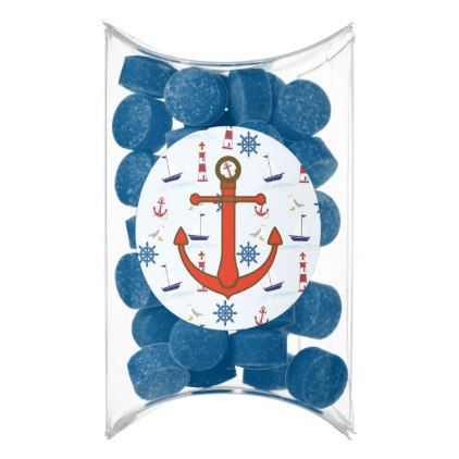 Nautical Oceanic Anchors and Lighthouses Favors Chewing Gum  $4.90  by BabyShowerMadness  - cyo customize personalize unique diy