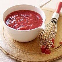 Recept rabarber-aardbeiensaus
