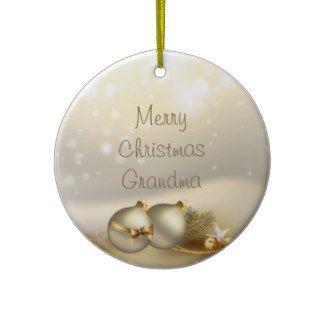 Gold Balls, Bells and Stars Christmas Ornaments