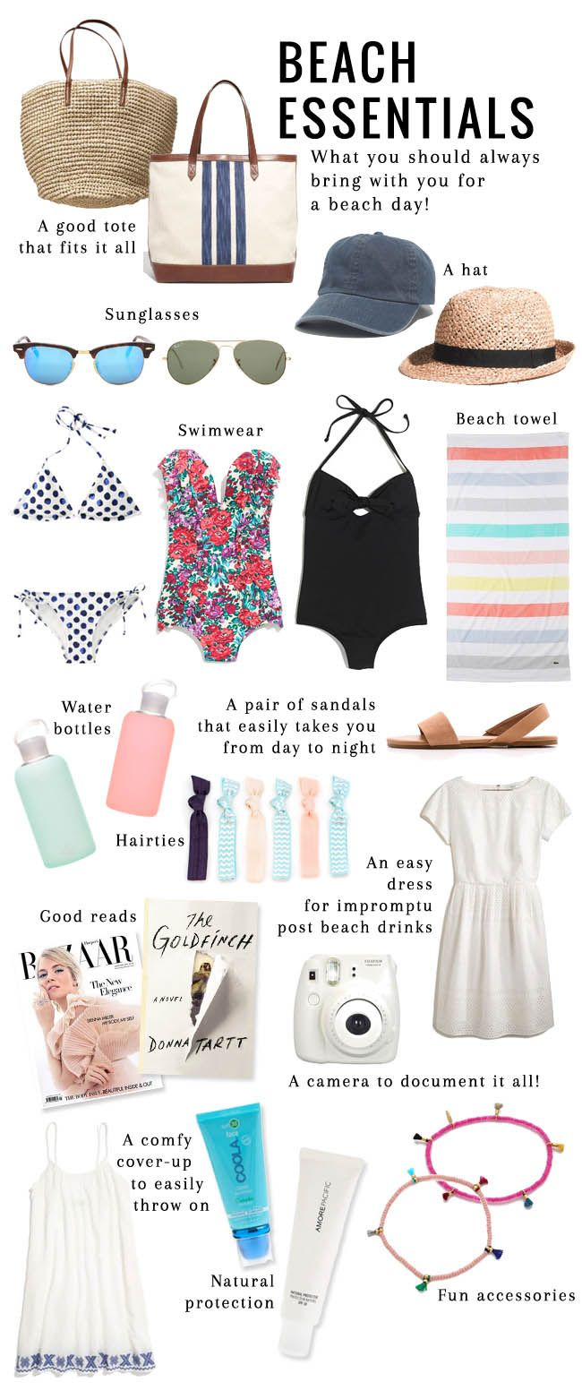 14 Essential Items to Pack in Your Beach Bag | http://helloglow.co/essentials-to-pack-for-the-beach/
