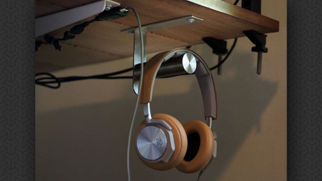 Hang Your Headphones Under Your Desk with This IKEA Hook ***reuse that old TP roll holder
