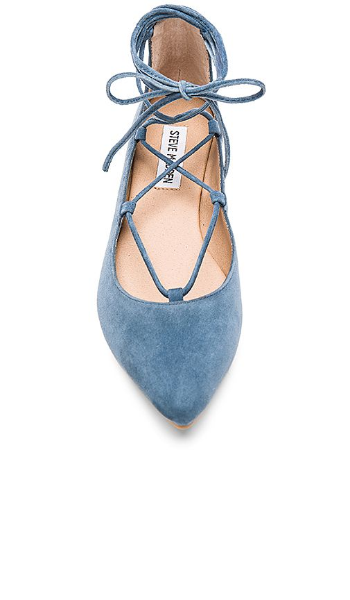 Shop for Steve Madden Eleanorr Ballet Flat in Blue at REVOLVE. Free day  shipping and returns, 30 day price match guarantee.