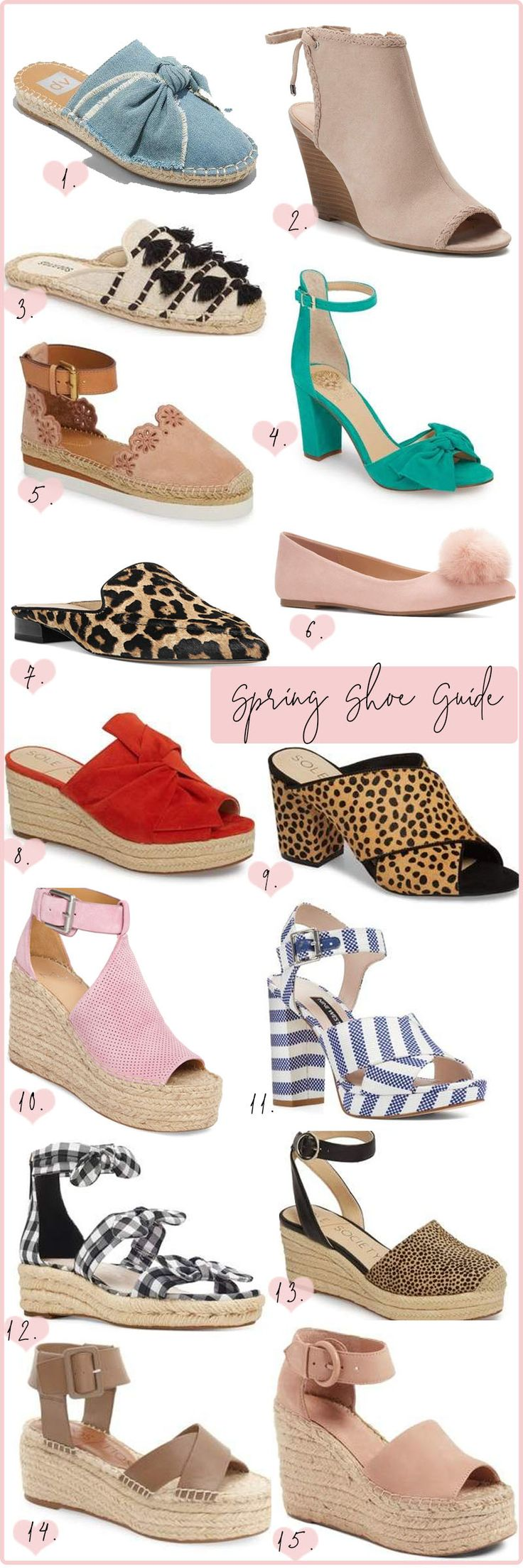 Rounding up the best spring shoes for spring 2018. The cutest wedges, mules, slides and more. Get outfit inspiration here.
