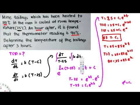 Application on First ODE  Newton's Law of Cooling
