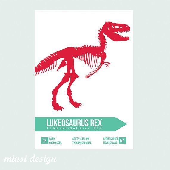 Customised Dinosaur Poster Wall Art Children S By Minsidesign 15 00 Dinosaur Posters Art Wall Kids Poster Wall Art