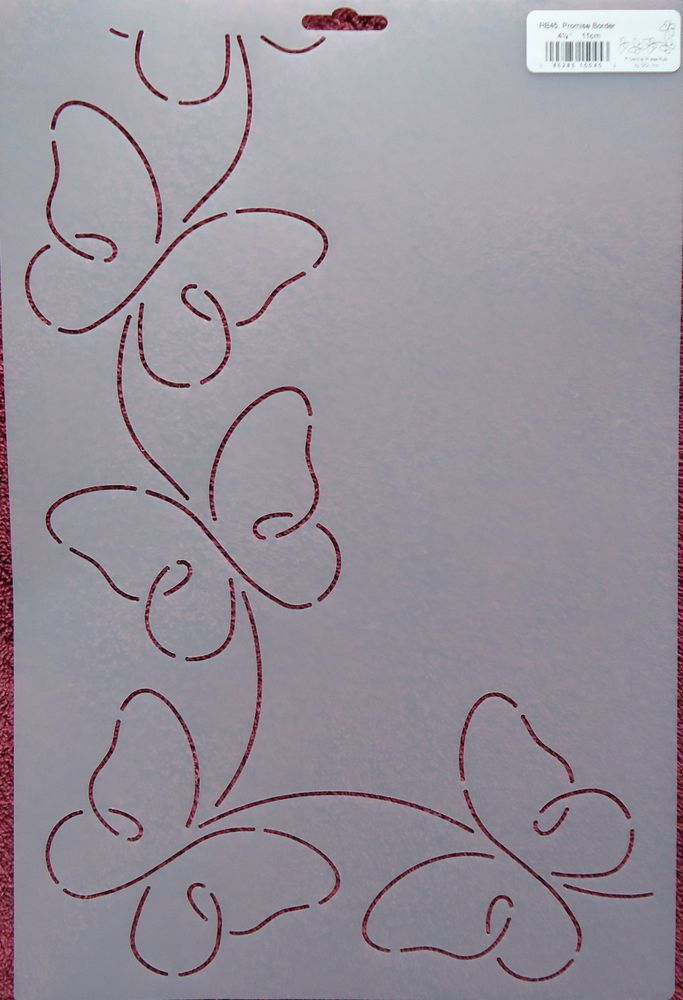 "Stencil Quilting Promise Border 4 1/4"" 11cm RB45 Butterflies Butterfly quilt QC 