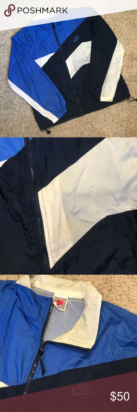 Vintage Nike Windbreaker Pryme® | Vintage Nike Windbreaker | Good Condition Some Yellowing On Neck And White From Age (See Pictures) | Size Large |🔥 $50 + Shipping 🔥 Nike Jackets & Coats Windbreakers
