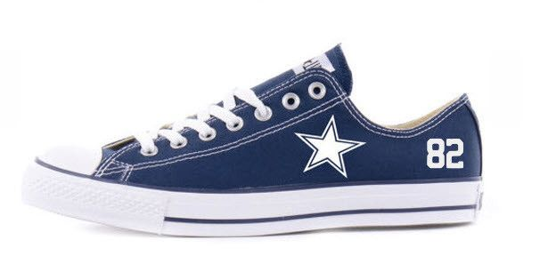 "Adult Dallas Cowboys Converse ( use coupon code ""myteam"" and save 10% OFF)"