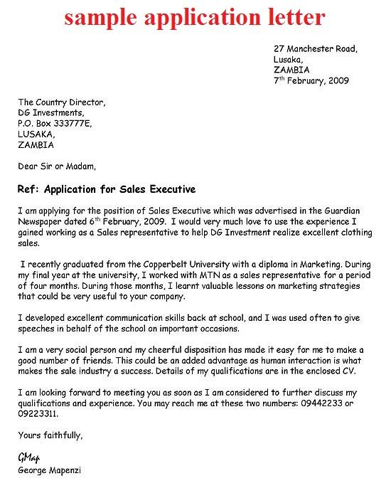 application letter exle october 2012 Application letters