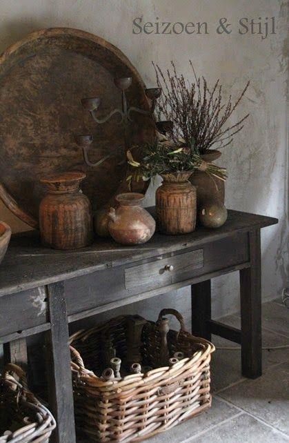 25 beste idee n over vintage potten op pinterest strand metselaarkruiken strand pot en baby - Deco stijl chalet ...