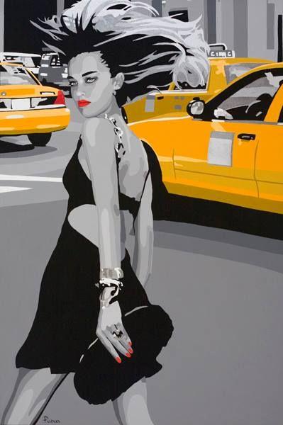 Silvia Papas - Touch and go, 66*100 cm, serigrafi