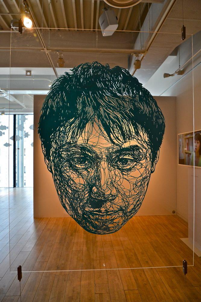Risa Fukui's large-scale paper cutouts...