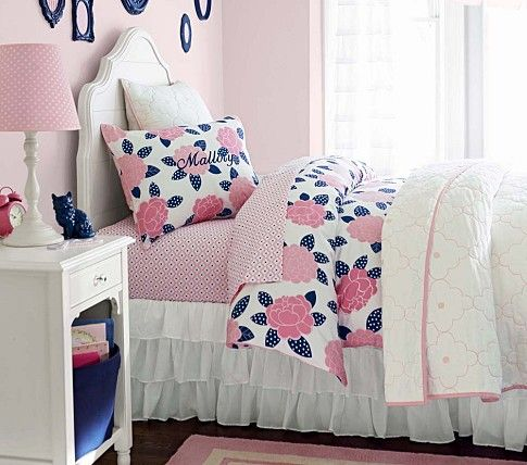 Navy/Pink for Emery's big girl room Juliette Bedroom Set | Pottery Barn Kids