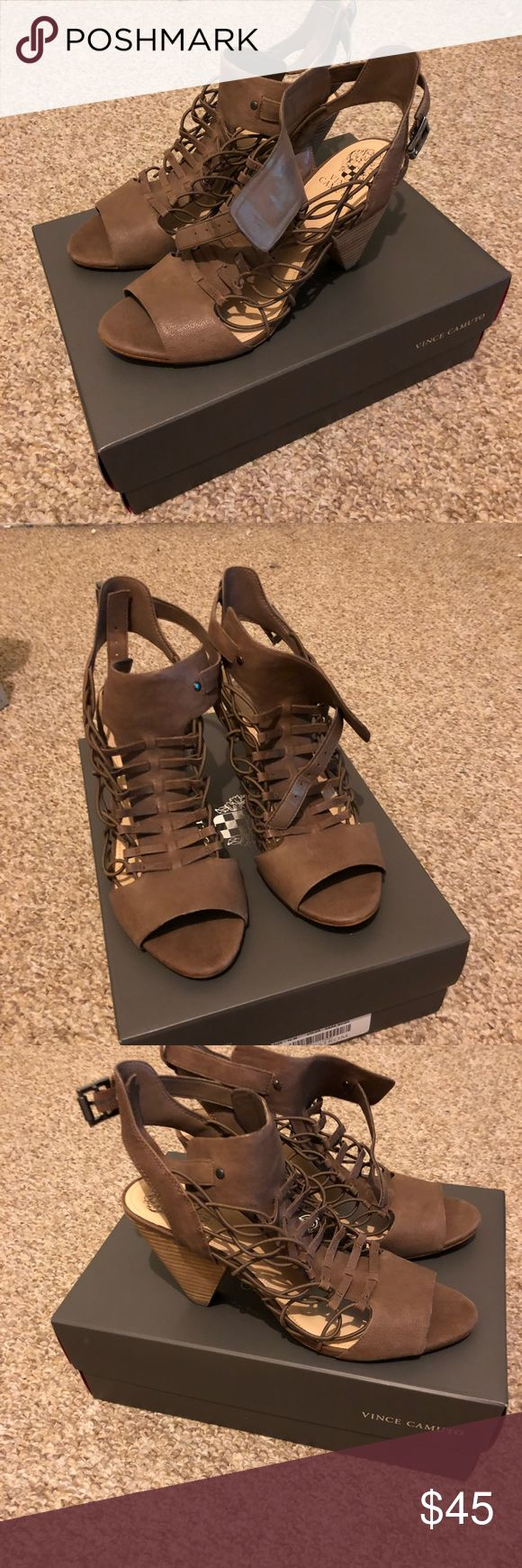 VC-EVEL Vince Camuto Evel sandals that I purchased at Nordstrom and never ever wore...I only tried them on once.   Size 10M, Leather, buckle closure...BEAUTIFUL.  Great Price. Thanks for looking.  Paypal, Debit, and credit card only no Exceptions!!!! Vince Camuto Shoes Sandals