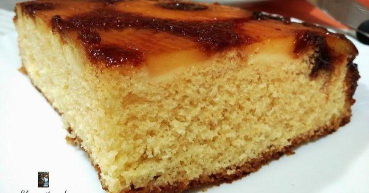 Con tales adjetivos, no hay quien se pueda resistir a probar el pastel de piña que comparten desde el blog EL CREPITAR DE LOS FOGONES.