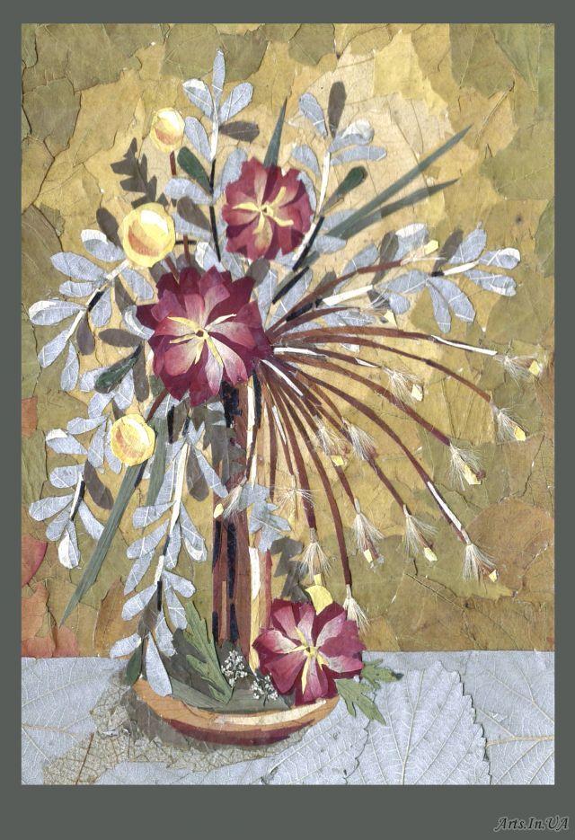 Псалом, прессованная флористика открытки