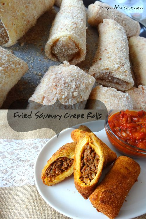Sri Lankan - Chinese Rolls - Fried Savoury Crepe Rolls | The Flavor Bender