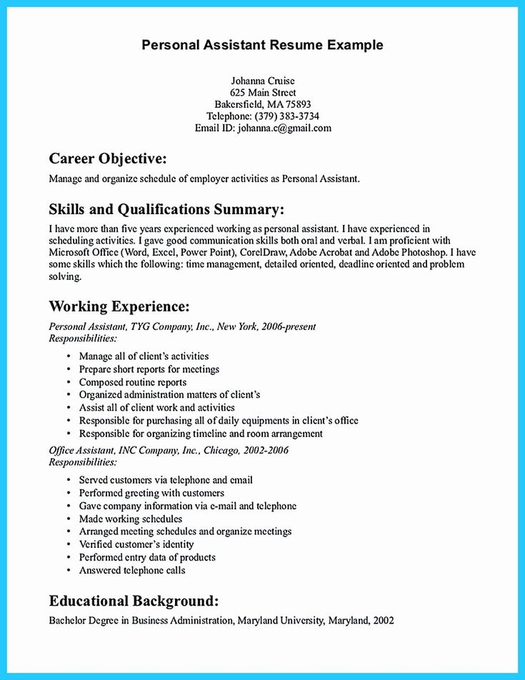 27 personal assistant resume example in 2020 resume