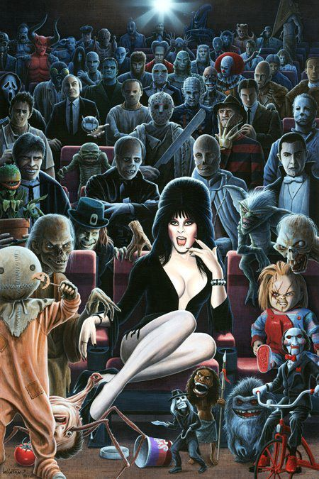 Freakin AWESOME!!!! How many horror characters can you name/ spot?
