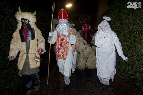 De duivel (parkelj), Sinterklaas (Sv. Miklavž) en de engel