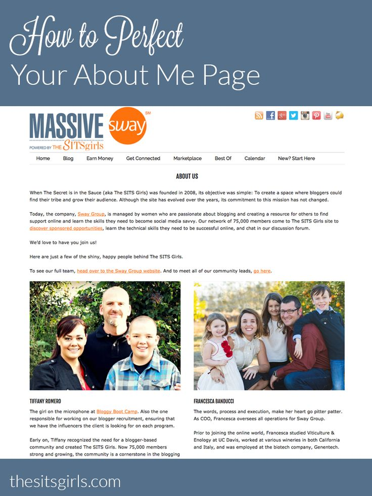 The second most looked at page on your blog is the About Me page. These tips will help you create the perfect about page.
