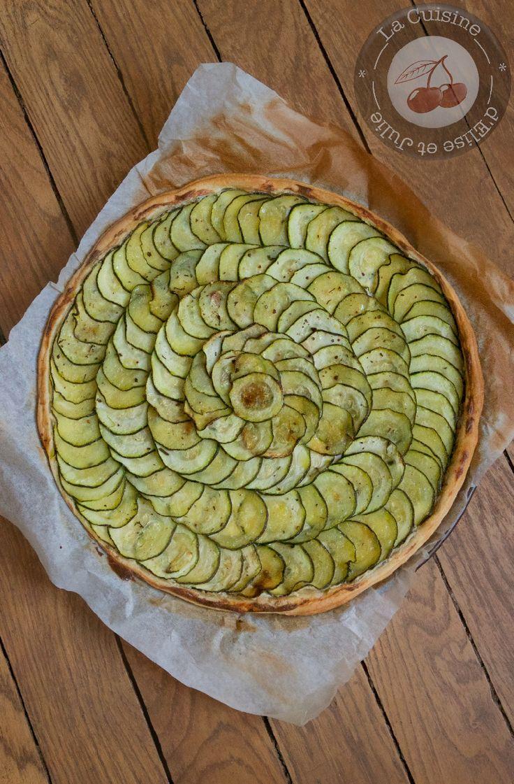 Tarte salée courgettes et boursin :: La cuisine d'Elise et Julie