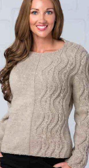 пуловер с аранами спицами обсуждение на Liveinternet российский