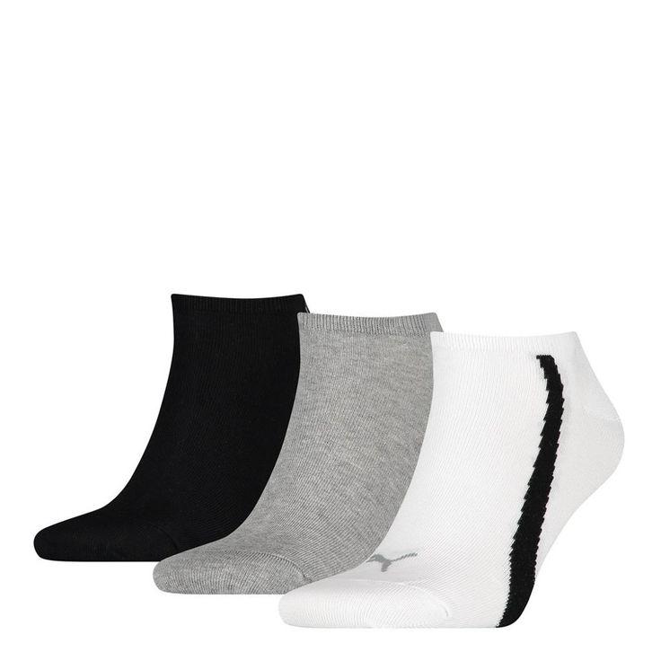 Puma Lifestyle Sneakers 3 Pack Socks - White / Grey / Black
