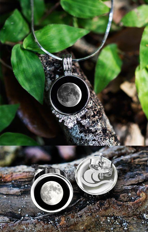 Selene Vintage Radiance Necklace & Brilliance Stud Earring Set | Moonglow Jewelry Canada