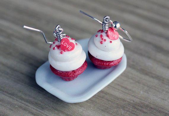 Polymeer klei miniatuur voedsel sieraden  rood door MySecretCravings
