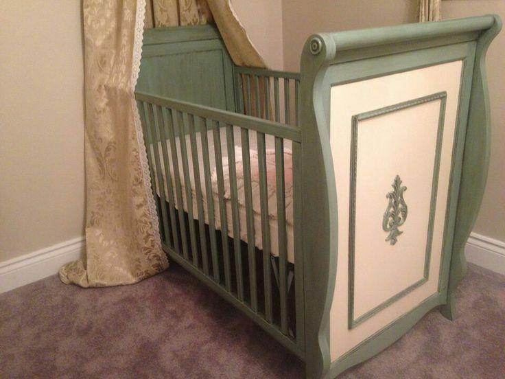 Gorgeous Crib Done For A Customer. Door FurnitureFurniture RefinishingRed  ...