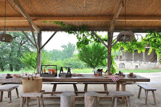 Sarah Lavoine vacation home. Outdoor veranda.
