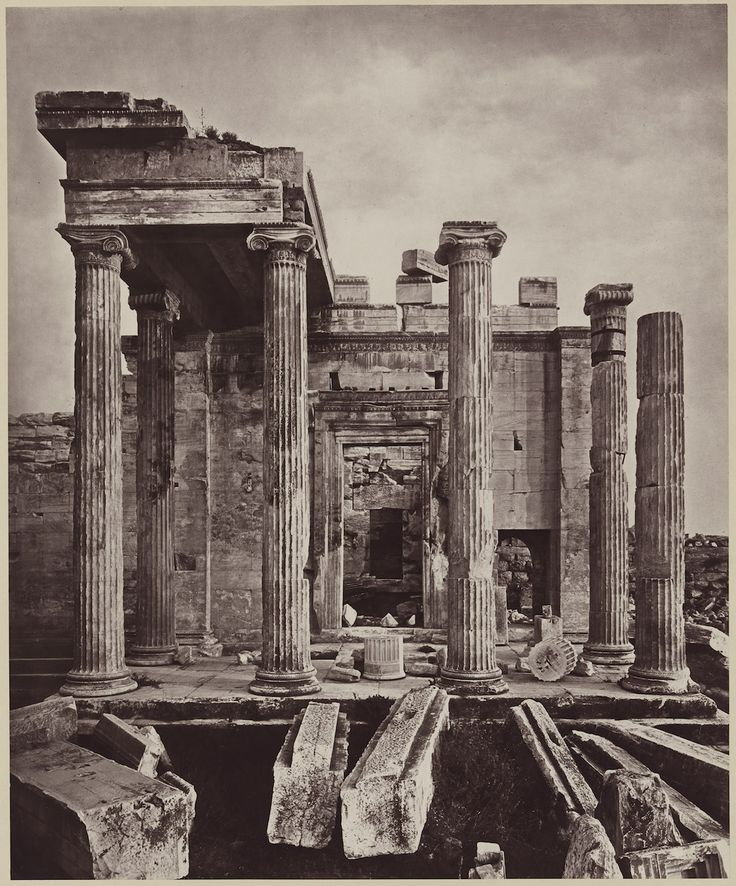 "William James Stillman, ""Portico of Pandroseum"" (1882), carbon print (© Museum of Fine Arts, Boston)"