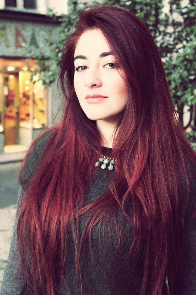 Très Les 25 meilleures idées de la catégorie Cheveux couleur cerise sur  BW28
