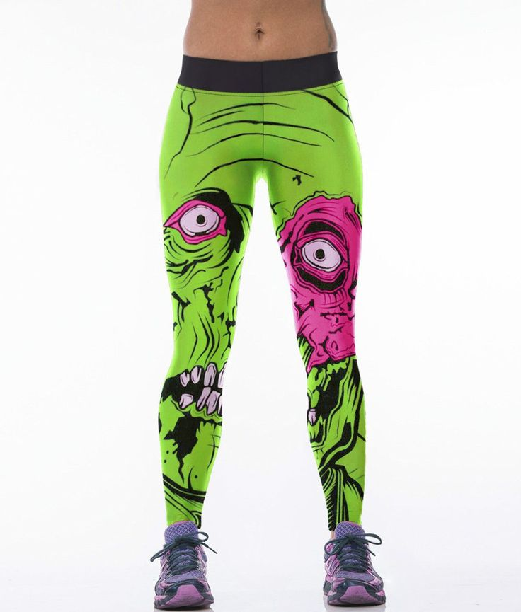 More Classic European America Style 3D Print Sport Leggings Women Casual Fitness Legging Pants Punk Rock Gym Clothes Ropa Mujer