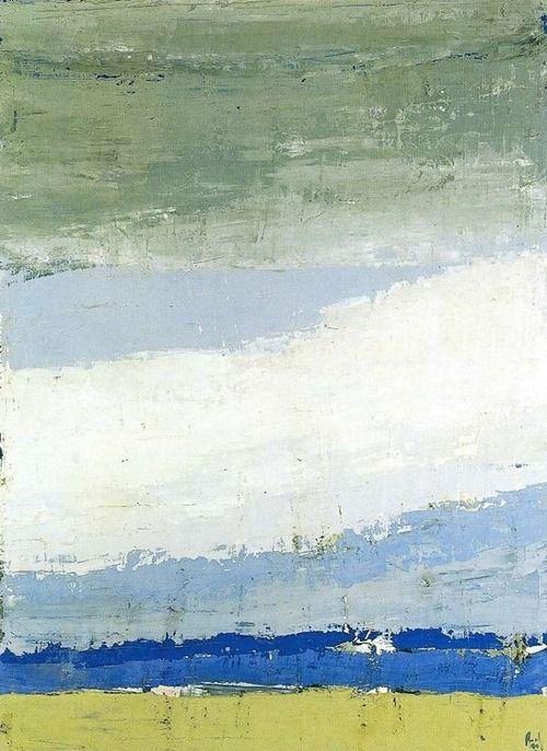 Ciel á Honfleur, 1952   Nicolas de stael