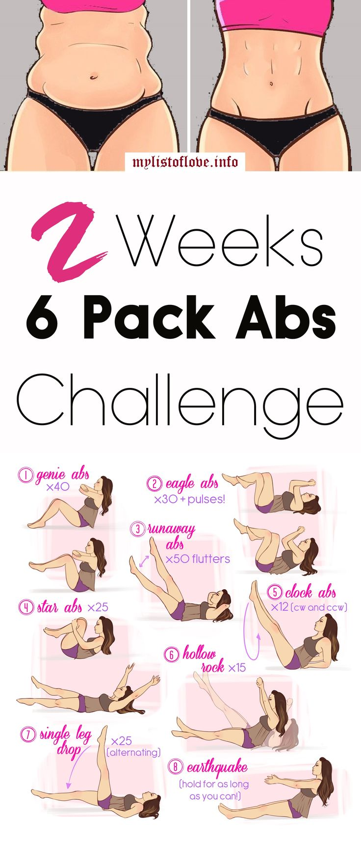 2 Weeks Hard Core 6 Pack Abs Workout Challenge....